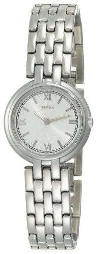 高級素材使用ブランド Timex Women &aposs t2?m937シルバートーンアナログドレスステンレススチールブレスレット腕時計, ギフトのブロア 1b743fab