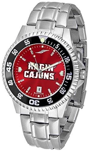 【楽天ランキング1位】 ルイジアナ州ラファイエットRagin &apos Cajuns他社スチールAnochromeメンズ腕時計-腕時計メンズ
