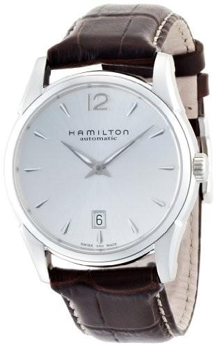 人気TOP CLASSIC メンズ 40mm カーフ JAZZMASTER H38515555 [並行輸入品] [ハミルトン]HAMILTON AMERICAN SLIM 腕時計 シルバーダイヤル-腕時計メンズ