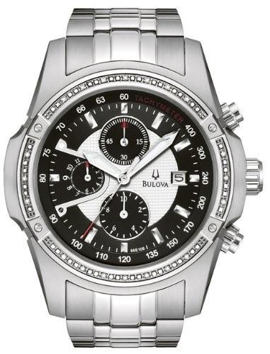 セール特価 ブローバMen &apossブローバMen &aposs 96e108ダイヤモンドケースブラックダイヤルブレスレット腕時計, 海苔の富三:51238ba4 --- 1gc.de