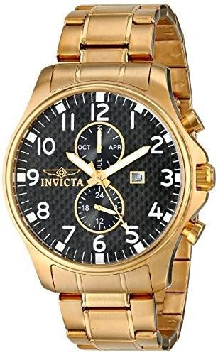 注文割引 Invicta Mens Gold-Plated 0382 II II Collection 18k 18k Gold-Plated Stainless Steel Watch, ギャッベ専門店kavir:1a3e4e24 --- ai-dueren.de