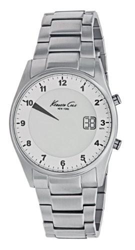 お得セット York男女兼用kc3962?Digital Silver Screen Dial New Watch Kenneth Cole-腕時計メンズ