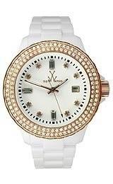 2019年秋冬新作 Toy Watch Plasteramic White & # Rose Gold Crystal Rose Unisex & Watch # pcls26whpg, 魚甲本店:2cd112bc --- 1gc.de