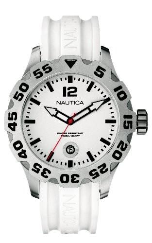 【最新入荷】 Nautica男性用n14608g BFD 100?Date BFD 100?Date White White Watch, ビューティー応援団:20b2141a --- 1gc.de