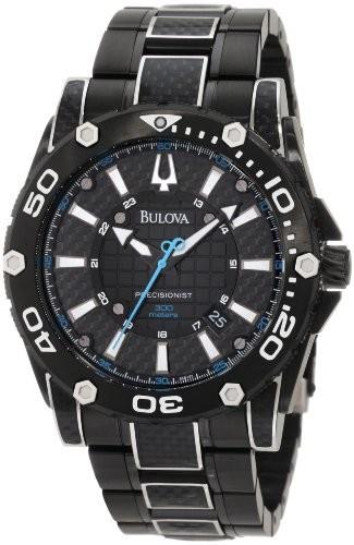 特別価格 Bulova Champlain black Mens 98B153 Precisionist Champlain Steel + black Steel ion Watch【並行輸入品】, 子供服yuai:2220b287 --- 1gc.de