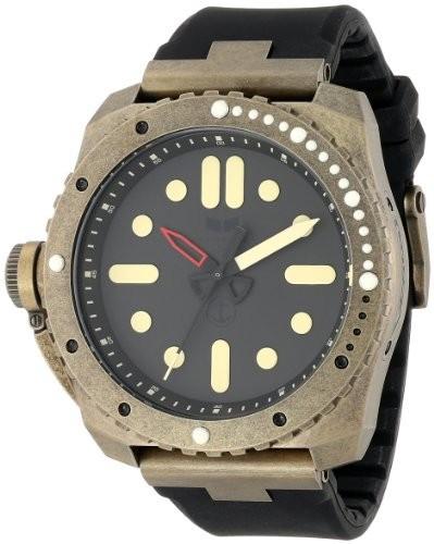 【国際ブランド】 ベスタル Vestal Mens RSD3S03 Restrictor Diver 50 Antique Gold Black Watch [並行輸入品], 八坂村 a8dcd6a5