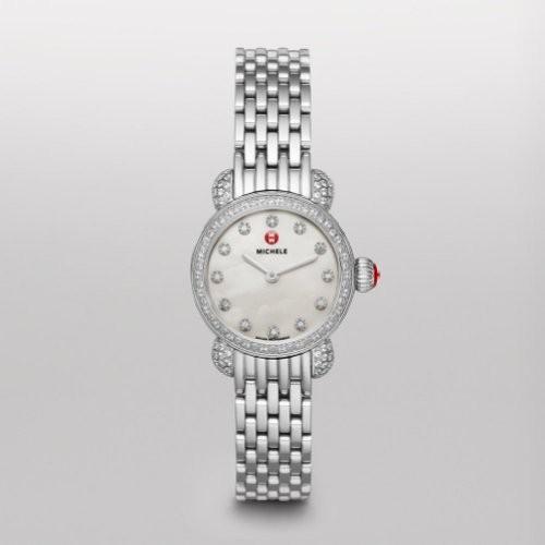 古典 mww03?a000230 Michele csx-26ダイヤモンド母のパールダイヤルステンレススチールLadies Watch-腕時計レディース