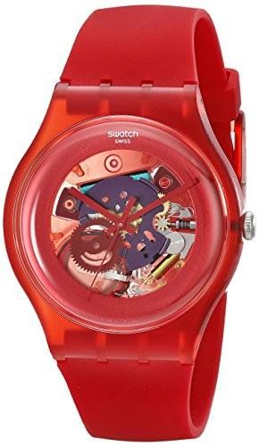 【メーカー公式ショップ】 [スウォッチ]SWATCH 腕時計 NEW GENT(ニュージェント) RED SUOR101 LACQUERED(レッド RED・ラッカード) NEW SUOR101【並行輸入品】, 養老郡:1bea1237 --- schongauer-volksfest.de