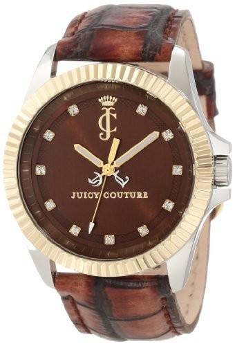 大流行中! Juicy Couture Womens 1900932 Stella Croc Embossed Leather Strap Watch, カイヅグン fab71566