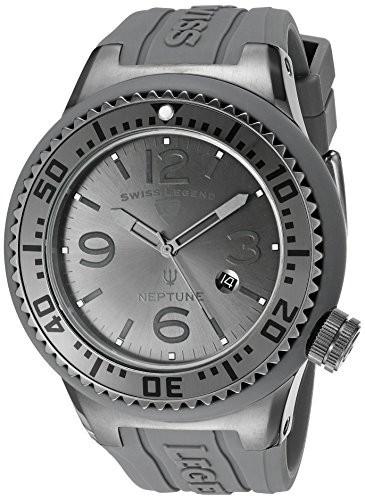 ★大人気商品★ スイス凡例メンズ21818p-gm-018?Neptune Charcoal Charcoal Grey Silicone Grey Dial Grey Silicone Watch, アクセサリーパーツのtama工房:8e092f97 --- 1gc.de