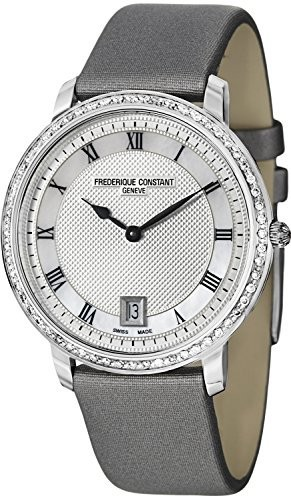 新作人気 Frederique Constant Slim Satin Watch Line Silver Guilloche Dial Grey Satin Slim Ladies Watch fc-220?m4sd36, GUTS JAPAN:0a08c7ec --- keles-montagen.de