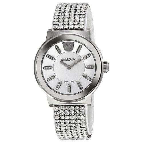 日本に Swarovski Crystal White Crystal Dial Watch Stainless Steel Brown Leather Unisex Steel Watch 1094348, 東広島市:aa84c875 --- kzdic.de