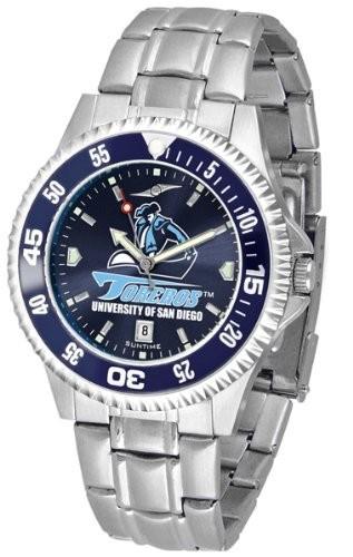 即日発送 Diego Competitor Mens Toreros San Steel AnoChrome Color Bezel Watch-腕時計メンズ