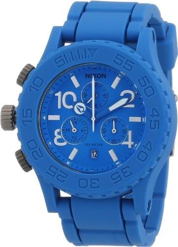 【超安い】 NixonNixon 42???20ブルーダイヤルステンレススチールラバークロノクオーツメンズ腕時計a309???917, 憧れの:460b9aea --- 1gc.de