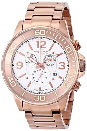【ネット限定】 [マルコ]Mulco Stainless MW490147331 Chronograph [並行輸入品] Rose-Tone ユニセックス Steel 腕時計 White Dial-腕時計メンズ