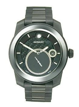 最新入荷 Movado Mens 0606614 Vizio Black Watch with Tungsten Carbide Bezel and PVD-Coated Bracelet, インポートマルシェ 7b5924b8