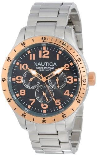 【超ポイント祭?期間限定】 [ノーティカ]Nautica 腕時計 BFD 101 Multi Casual Classic Watch N16100G メンズ [並行輸入品], アチムラ 5307429d