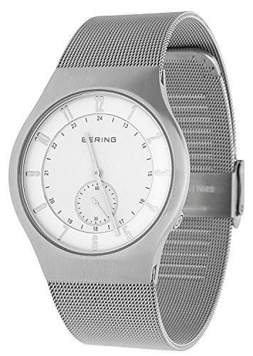 最安 Bering 51940-000-UK Time 51940-000-UK Mens White Mens and White Silver Radio Controlled Watch, ミクモチョウ:c4baaa87 --- 1gc.de