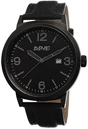 セール 登場から人気沸騰 August Steiner Mens AS8088BK August Black Strap AS8088BK Stainless Steel Canvas Strap Watch, DDintex:7b967ea2 --- schongauer-volksfest.de