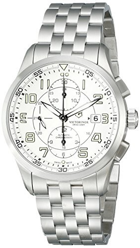 超美品 Victorinox Mens 241621 AirBoss Analog Display Analog Swiss AirBoss Automatic Silver Display Watch, SANPO CREATE:332cb5cc --- 1gc.de