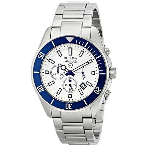 バーゲンで Steel Star Silver-Tone Marine 98B204 腕時計 メンズ [ブローバ]Bulova [並行輸入品] Chronograph-腕時計メンズ
