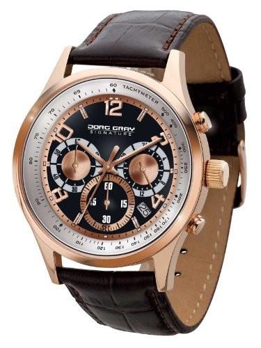 激安の marrone Wristwatch, JGS3550 Jorg Men, Leather, - Gray Color:-腕時計メンズ