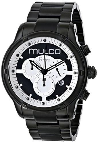 超爆安 MULCO Unisex MW5-2034-020 Ferro Mirror Analog Display Swiss Quartz Black Watch, トキガワムラ 79cb6c1e
