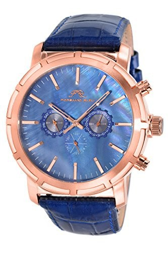 【正規販売店】 porsamo Rose Bleu NYC Watch Genuine Leather & Rose Tone & Blue Men &aposs Watch 056?CNYL, JS SISTER:d6267088 --- schongauer-volksfest.de