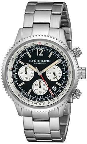 安い購入 Stuhrling Original Mens 669B.01 Stainless Monaco Date Stuhrling Stainless Steel Link Mens Bracelet Watch, 木屋平村:7abd8558 --- schongauer-volksfest.de