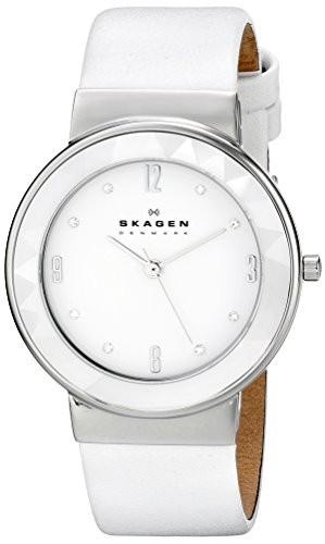 人気提案 Skagenレディースskw2220?Leonora 3?HandステンレススチールWhite Watch Quartz-腕時計レディース