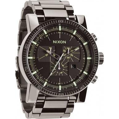 逆輸入 Watch SS PolishedガンメタルLum II a457???1885メンズMagnacon Nixon-腕時計メンズ