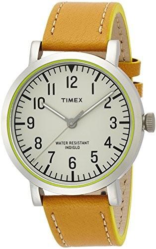 [定休日以外毎日出荷中] クラシックラウンド・ポップ ナチュラルダイアル [タイメックス]TIMEX シルバーケース T2P50 キャメルストラップ-腕時計レディース