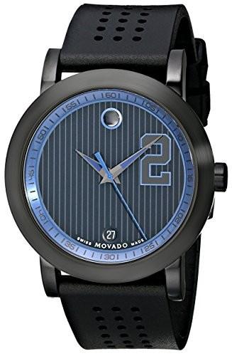 店舗良い Captainシリーズ博物館スポーツブラック時計 Movado Men Jeter s 0606892?Derek-腕時計メンズ