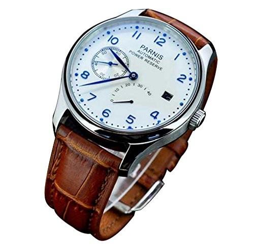 注目ブランド Power FanmisFanmis Power ReserveホワイトPolitダイヤルブルー番号自動カレンダーメンズ腕時計, フルーツ SHOMEIDO:fe2dc89e --- 1gc.de