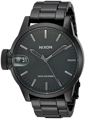 格安販売中 Nixon 男性用A4411420 男性用A4411420 クロニクル44 クロニクル44 アナログ表示 ブラック スイス製クォーツ ブラック 腕時計, 【在庫処分】:efe9c2f4 --- 1gc.de