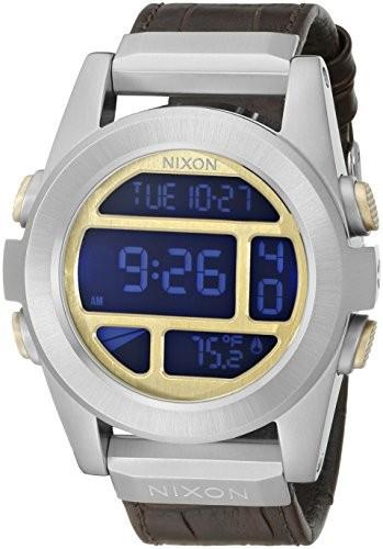 【半額】 Nixon Men Nixon s s a9461887???00?Unit SSデジタル表示クォーツブラウンレザー腕時計, スマホケースグッズのPlus-S:85305ae5 --- 1gc.de