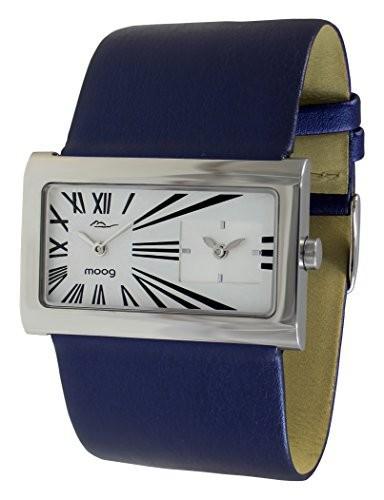【新品、本物、当店在庫だから安心】 Paris Womens White Genuine in Watch Dial, M41612-009 Stars Blue - Moog Strap Leather with-腕時計レディース