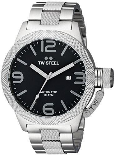 【メール便送料無料対応可】 s Steel cb6アナログ表示クォーツシルバー腕時計 TW Men-腕時計メンズ