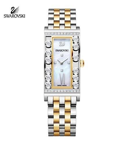 【お買得!】 5096689 スワロフスキーLovely Watch Squareイエローゴールド調Ladies Crystals-腕時計レディース