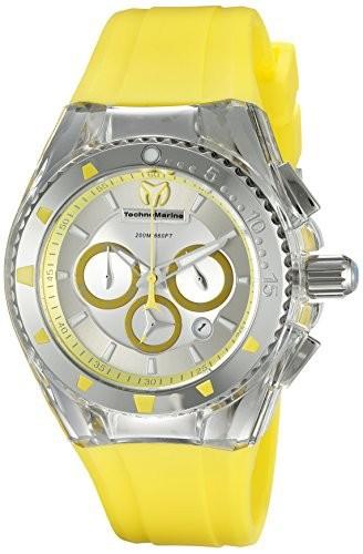 【超特価SALE開催!】 TechnoMarineレディースtm-115169クルーズPearl Yellow Analog Analog Display Quartz Quartz Yellow Watch, 野辺地町:a4d810c3 --- schongauer-volksfest.de