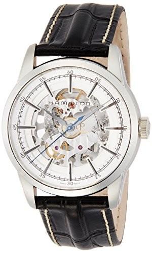 人気No.1 [ハミルトン]HAMILTON 腕時計 レイルロード スケルトン 機械式自動巻き H40655751 メンズ 【並行輸入品】, かぶら食品 40d41552