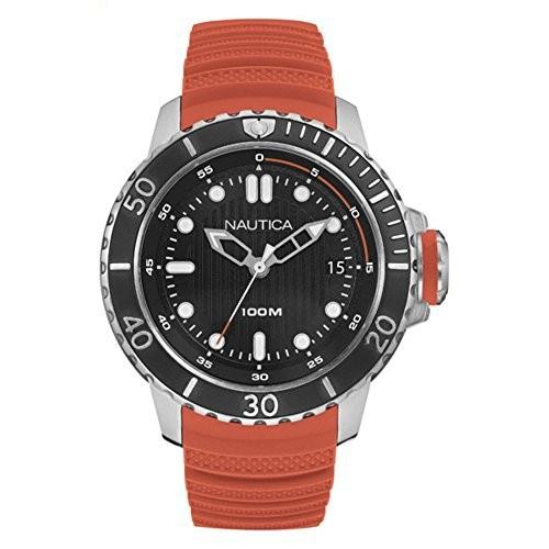 ランキング第1位 ノーティカMen &aposs ノーティカMen &apos NMX Dive Style日付&apos Style日付&apos Quartzステンレススチールand Silicone Casual Dive Watch , Color :オレンジ(モデ?, InKorea:8d9dea00 --- 1gc.de