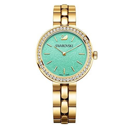 柔らかい スワロフスキーDaytimeターコイズブレスレット腕時計5182212-腕時計レディース