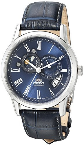 人気満点 クラシック サン&ampムーンバージョン2 ブルー FET0T004D0 メンズ腕時計 アナログ自動巻き Orient-腕時計メンズ