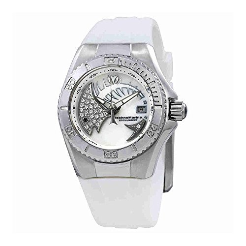 高価値 TechnoMarineレディースTechnoMarineホワイトシリコンバンドSteel Caseスイスクォーツアナログ腕時計115256, クロサワ楽器池袋店 Wavehouse 7b75cbcf