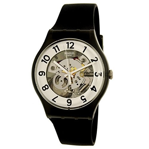 【2018年製 新品】 Swatch Mens Skeletor SUOB134 Rubber Black SUOB134 Rubber Swiss Quartz Mens Watch, カミミノチグン:074b3137 --- ai-dueren.de