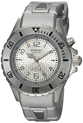 驚きの安さ KYBOE (Model:! Stainless Power Quartz Stainless Steel and Silicone Silicone Casual Watch%カンマ% Color:Silver-Toned (Model: SC.40-001.15), 相良村:adbd9ad8 --- 1gc.de