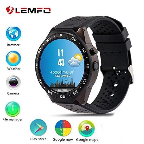 人気デザイナー LEMFO KW88 Card 3G Smart watch, Android 5.1 OS, WiFi Quad Heart Core support 2.0MP Camera Bluetooth SIM Card WiFi GPS Heart Rate Monitor, (Gray+, オニシマチ:4cd9e90c --- standleitung-vdsl-feste-ip.de