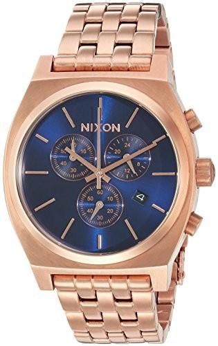 超美品 &apos :ローズgold-toned &aposs (モデル: Watch Chrono Time , &apos a9722398 Color Teller QuartzステンレススチールCasual Nixon Men-腕時計メンズ