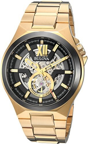 格安販売中 Bulova Steel Watch, Automatic Color:Gold-Toned Mens Casual (Model: Stainless 98A178)-腕時計メンズ